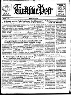 Türkische Post vom 25.05.1939
