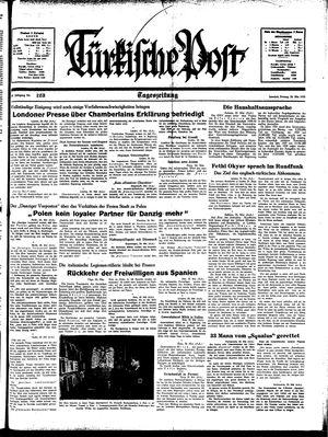 Türkische Post vom 26.05.1939