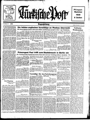 Türkische Post on May 27, 1939