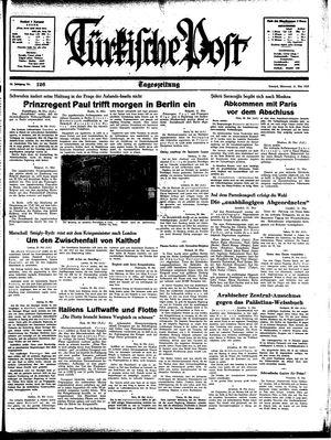 Türkische Post vom 31.05.1939