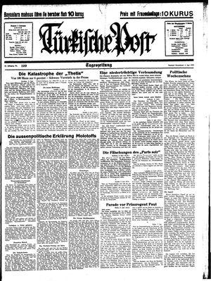 Türkische Post vom 03.06.1939
