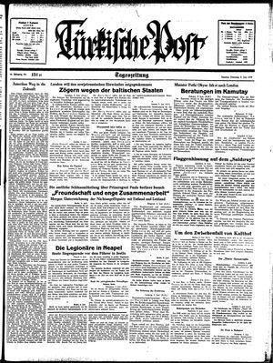 Türkische Post vom 06.06.1939