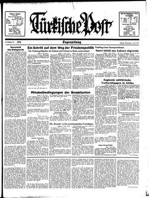 Türkische Post vom 08.06.1939
