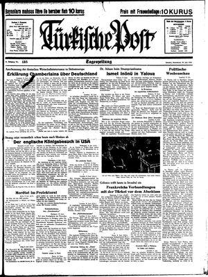 Türkische Post vom 10.06.1939