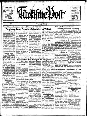 Türkische Post vom 15.06.1939