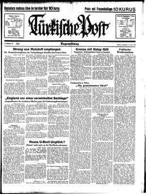 Türkische Post vom 17.06.1939
