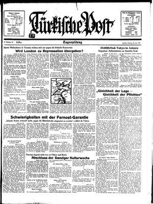Türkische Post vom 20.06.1939