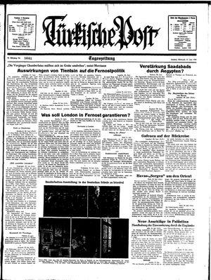 Türkische Post vom 21.06.1939