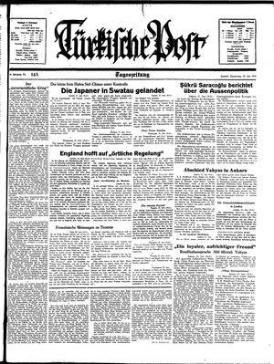 Türkische Post vom 22.06.1939