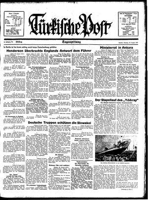 Türkische Post vom 29.08.1939