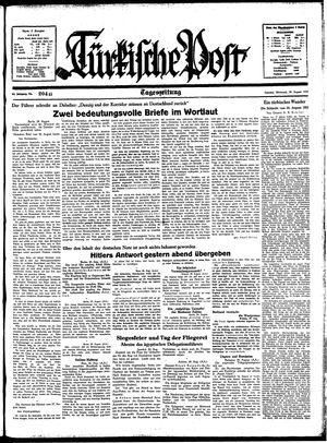 Türkische Post vom 30.08.1939