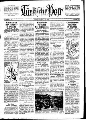 Türkische Post vom 03.01.1942
