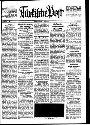 Türkische Post vom 06.01.1942