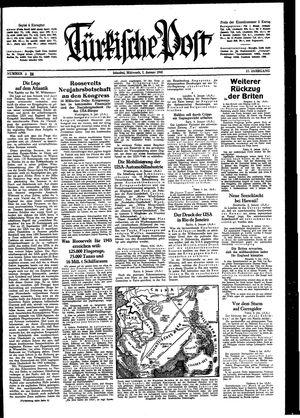 Türkische Post vom 07.01.1942
