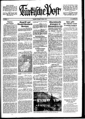 Türkische Post vom 09.01.1942