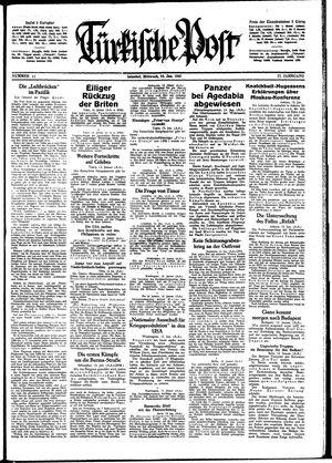 Türkische Post vom 14.01.1942