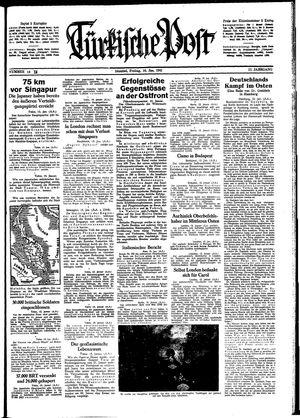 Türkische Post vom 16.01.1942