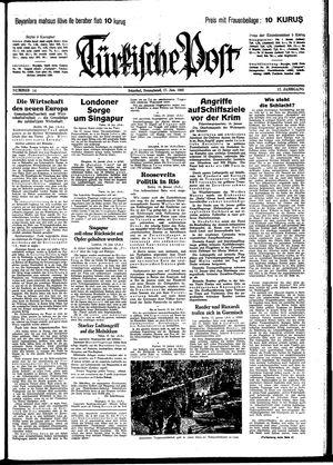 Türkische Post on Jan 17, 1942