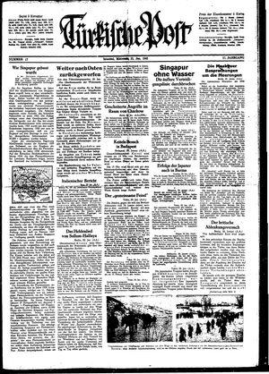 Türkische Post on Jan 21, 1942