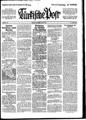 Türkische Post vom 24.01.1942