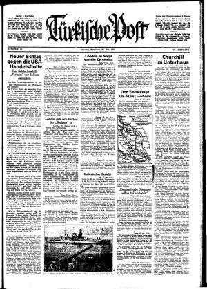 Türkische Post vom 28.01.1942