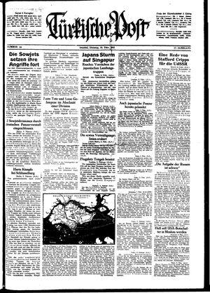 Türkische Post vom 10.02.1942