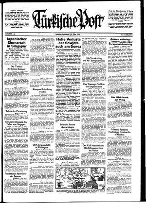 Türkische Post vom 12.02.1942