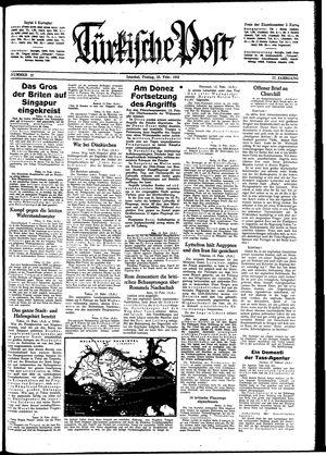 Türkische Post vom 13.02.1942