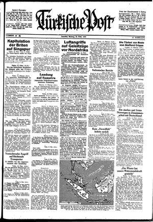 Türkische Post vom 16.02.1942