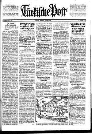 Türkische Post on Feb 17, 1942