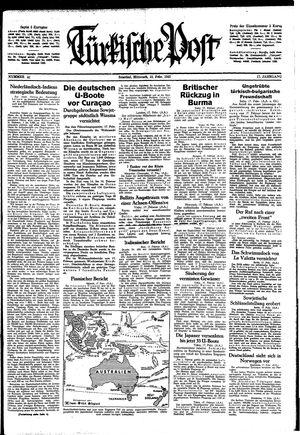 Türkische Post vom 18.02.1942