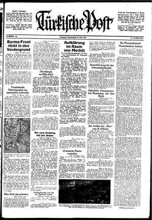 Türkische Post on Feb 19, 1942