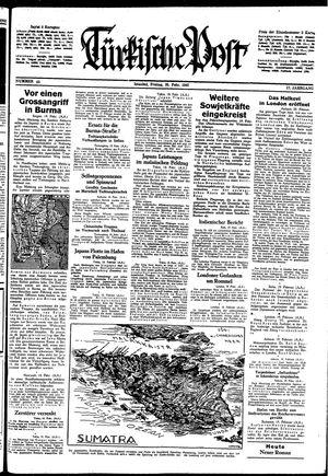 Türkische Post on Feb 20, 1942