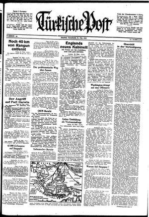 Türkische Post vom 21.02.1942