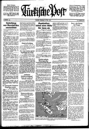 Türkische Post vom 24.02.1942