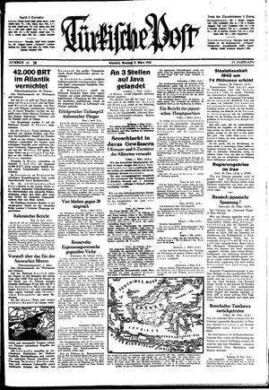 Türkische Post vom 02.03.1942