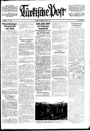 Türkische Post vom 03.03.1942
