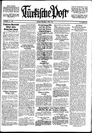 Türkische Post vom 04.03.1942