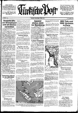 Türkische Post vom 05.03.1942
