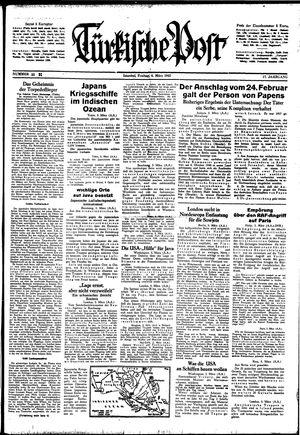 Türkische Post vom 06.03.1942
