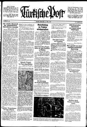 Türkische Post vom 11.03.1942