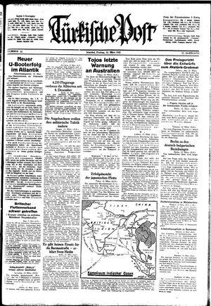 Türkische Post vom 13.03.1942