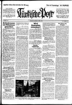 Türkische Post vom 14.03.1942