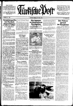 Türkische Post vom 16.03.1942