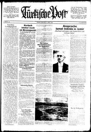 Türkische Post vom 18.03.1942