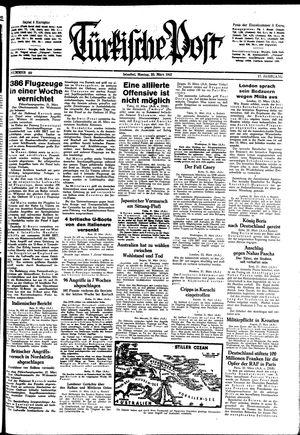 Türkische Post vom 23.03.1942