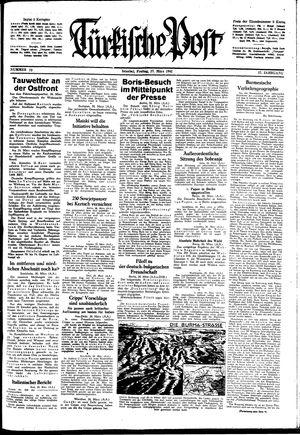 Türkische Post vom 27.03.1942