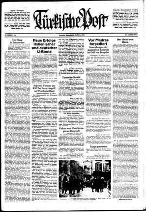Türkische Post vom 28.03.1942