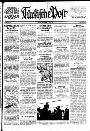 Türkische Post vom 04.04.1942