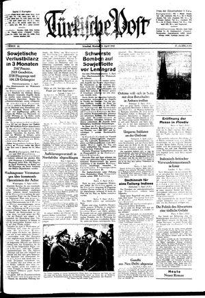 Türkische Post vom 06.04.1942
